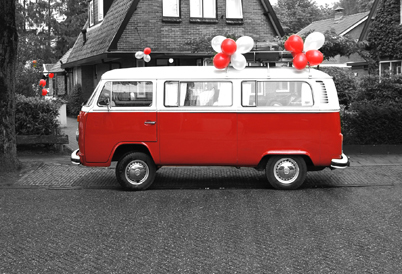 De rode VW - The colour of LOVE