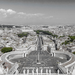 Rome gezien vanaf de St Pieter