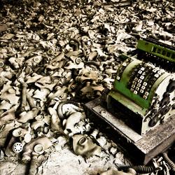 Verlaten school in tsjernobyl