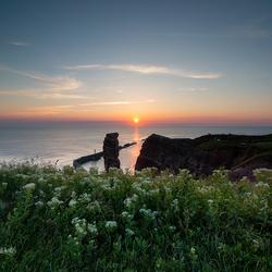 Zonsondergang bij de lange anna