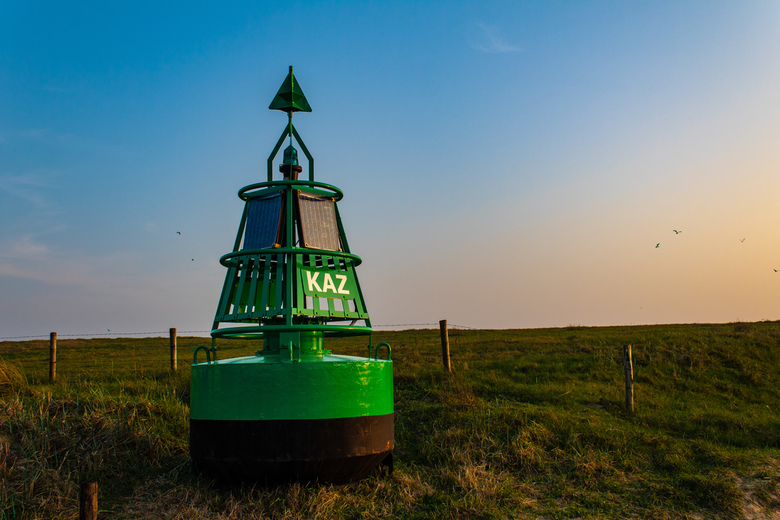 Boei - Navigatie boei nabij boulevard van Katwijk aan zee, Zuid-Holland