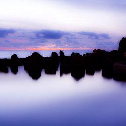 Black rock, purple haze