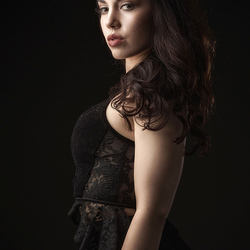 Zoe in black
