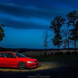 Mitsubishi by night