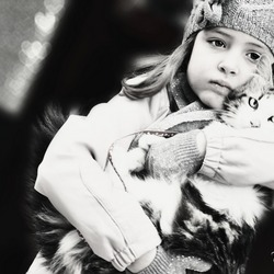 Girl with cat1