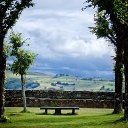 Doorkijkje de landerijen in van Frankrijk