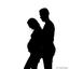 Zwangerschaps silhouet