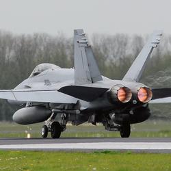 Takeoff F-18 Hornet