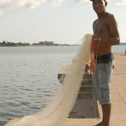 Portret cubaanse visser