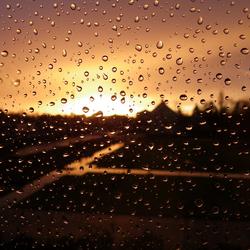 Rain in the sunlight