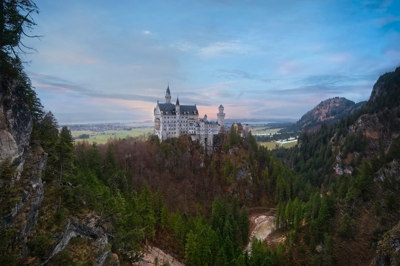 Neuschwanstein castle - This winter we went to skiing in Val Pusteria, Dolomites. On the way there we stopped to this amazing Bavarian castle, Neuschw