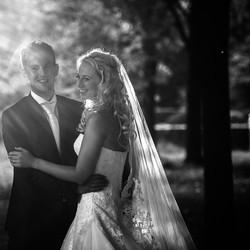 Bruidsfoto in zwart-wit