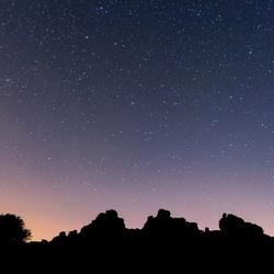 Hound Tor bij nacht