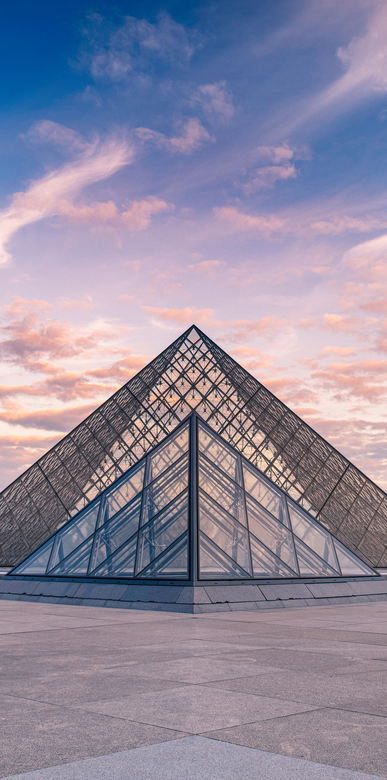 Grand Louvre Pyramids - The Louvre Pyramid is constructed from large glass and metal and the pyramid was designed by the Chinese-American architect I.