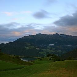 avondsfeer in de alpen