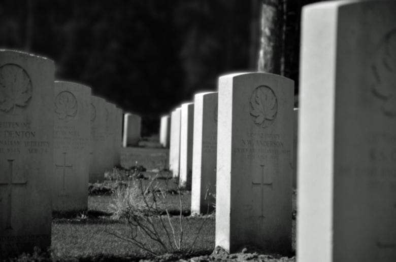 Canadeense begraafplaats - Foto's in het zwart wit maakt het wat gepaster
