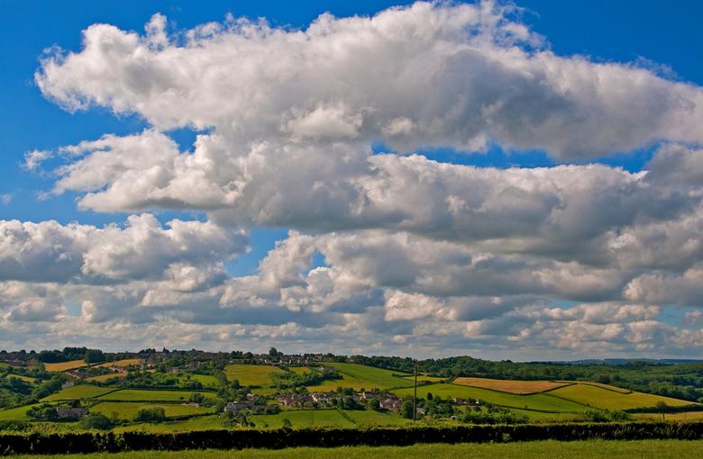 Uitzicht vanuit Tunley - Dit was ons uitzicht vanuit ons overnachtingsadres in Tunley. Het kan slechter zou ik zeggen ....