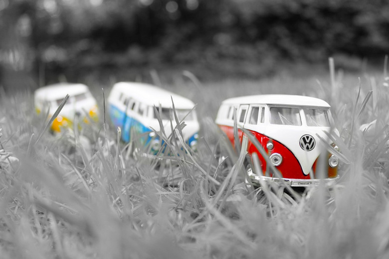On our road - Three little Volkswagen vans on their way! <br />