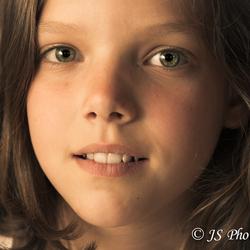 portret met kleurtint.