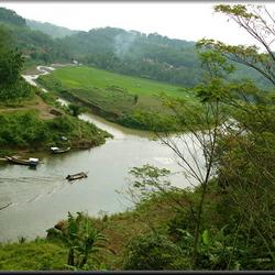 kronkels in de rivier