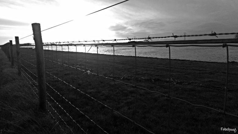 Oneindig  - Vanochtend een heerlijke wandeling gemaakt langs de Oude Maas nabij Hekelingen... Maar zo koud, die harde wind waaide dwars door mijn jas!