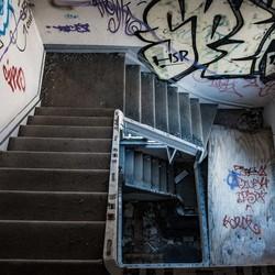 een trap gat...