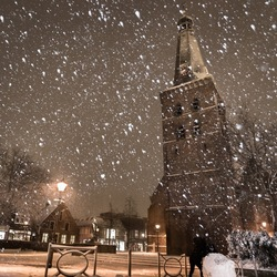 Winterse sferen rond de Oude Kerk in Barneveld