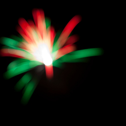 Firework, out of focus...