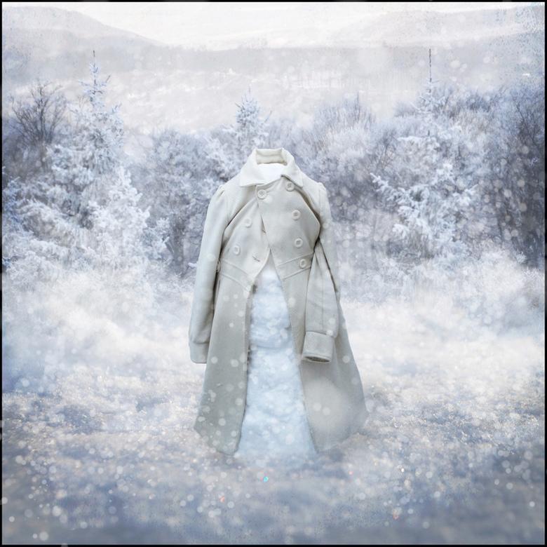 Mister Snowman? - Een bewerking van een sneeuwpop die ik 2 jaar geleden, toen het nog sneeuwde in nederland, had gemaakt.