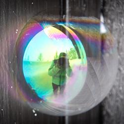 Noorwegen-Bondal bevroren zeepbel