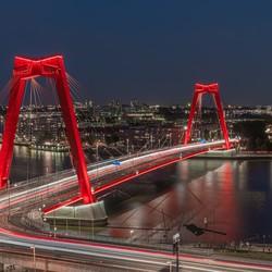 Lighttrails on the bridge