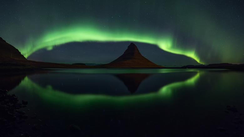 Kirkjufell en het noorderlicht