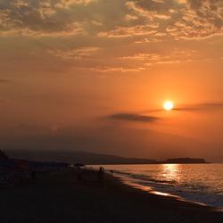 Zonsondergang in Kreta