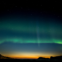 Northern-lights with sunset!