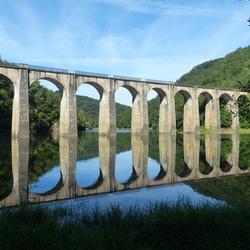 Oude spoorbrug Frankrijk