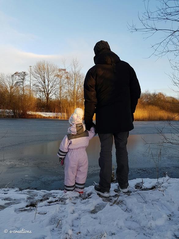 Vader en dochter - Vader en dochter in de sneeuw en kou ❤