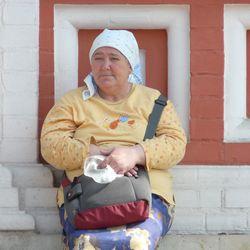Russische vrouw op het Rode Plein