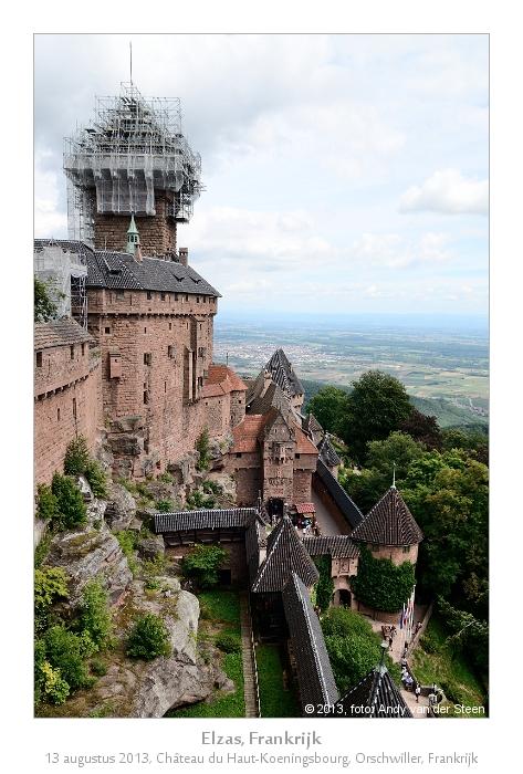 Chateau du Koeningsbourg - ...helaas voor een deel in de steigers.