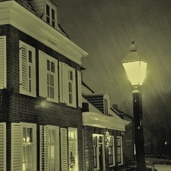 Evening in the snow