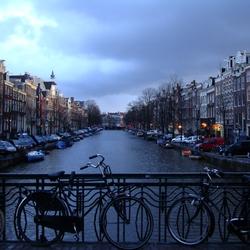 schemering in Amsterdam