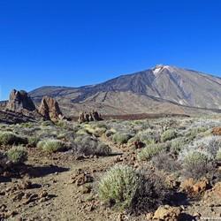 Uitzicht op de de vulkaan de El Teide in Tenerife