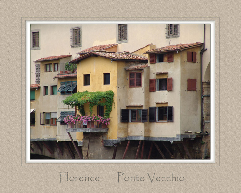 Ponte Vecchio - Fragment uit de beroemde brug in Florence, de Ponte Vecchio.