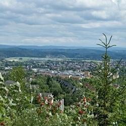 Uitzicht vanaf de Bromberg in Medebach.