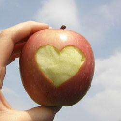 Het hart van de appel