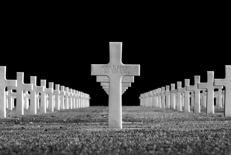Oorlogskerkhof - Oorlogskerkhof in Normandië