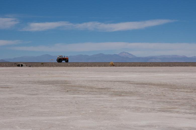 Zoutvlakte - Zoutvlakte, Salinas Grance, in het noordwesten van Argentinië.