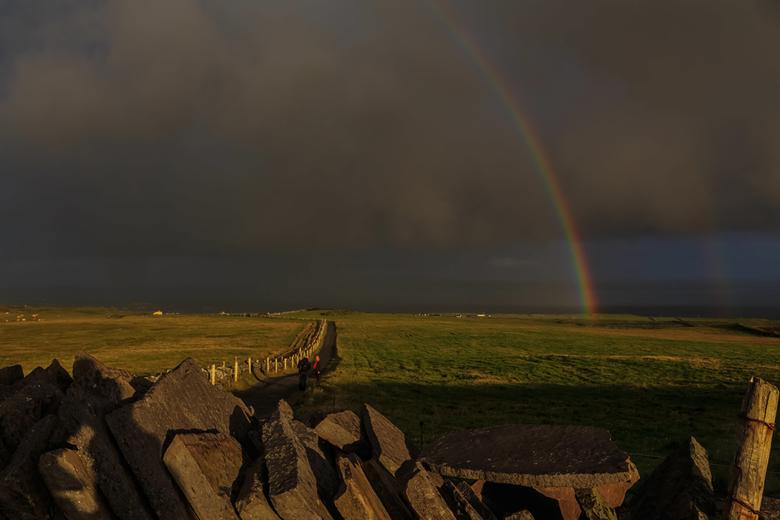 Regenbogen bij Cliffs of Moher -