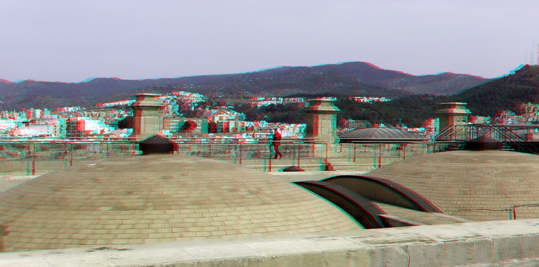 dak Catedral Malaga Spain 3D - anaglyph stereo red/cyan<br />