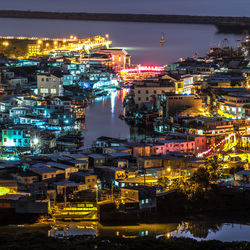 Tai O fishing village at Night