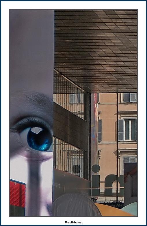 Collage - Daar lijkt het wel op, maar is het niet. Geen geplak en geknip en lagen met Photoshop. Gewoon een uitsnede van een foto, gemaakt in het trei